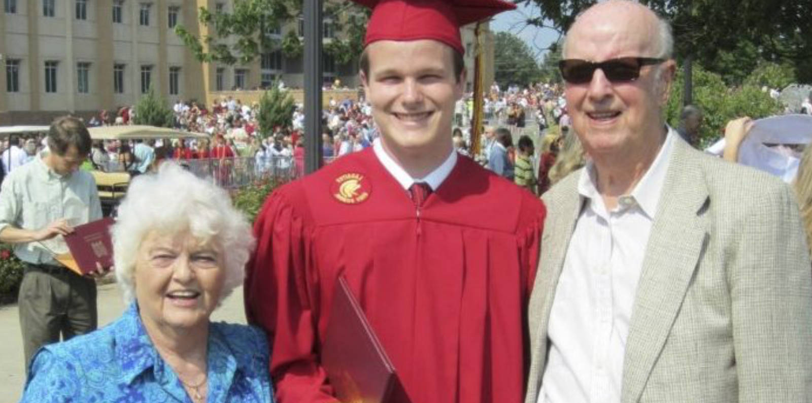 grandparents at grandson's graduation
